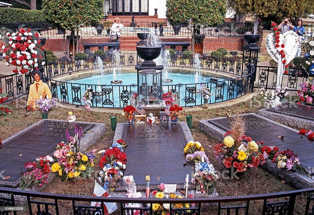 Presley remembrance garden, Memphis. stock photo