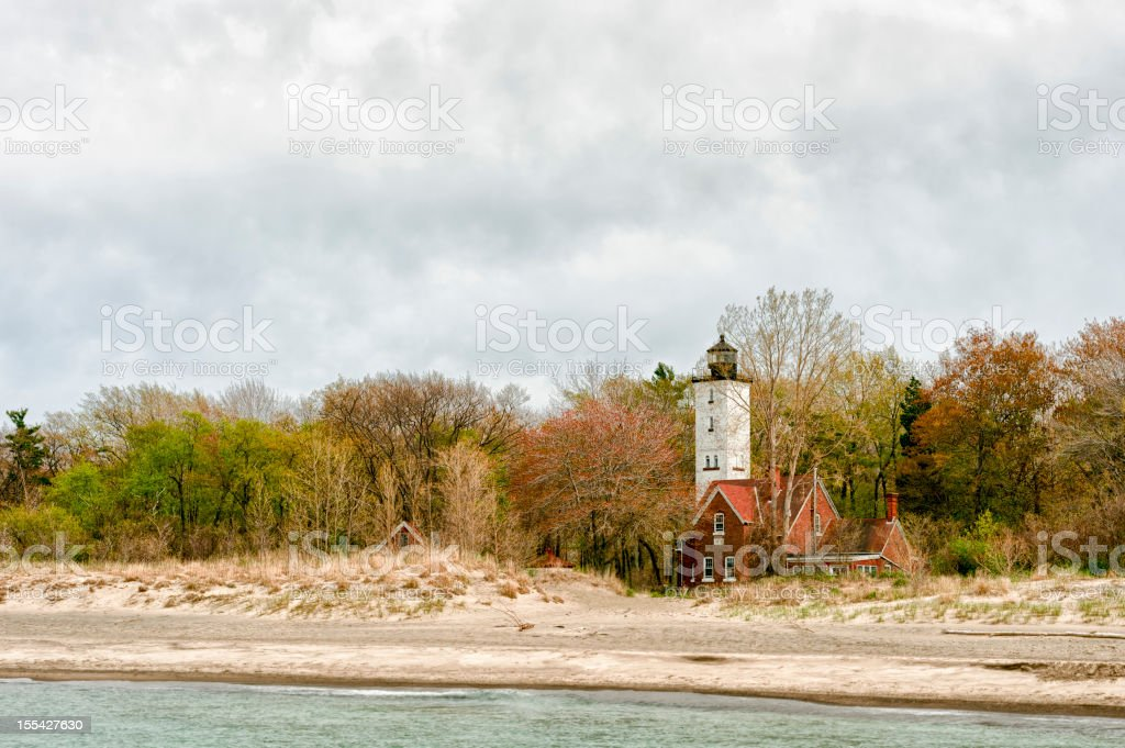 Presque Isle Lighthouse stock photo