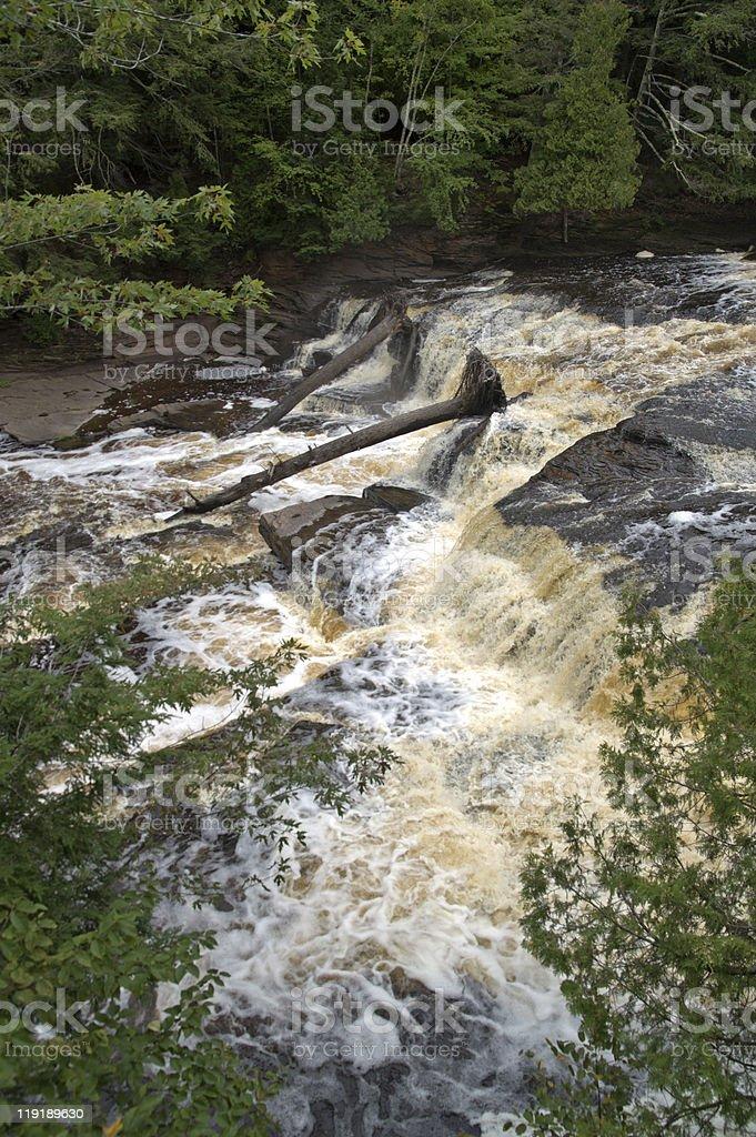 Presque Isle River, Michigan, USA stock photo
