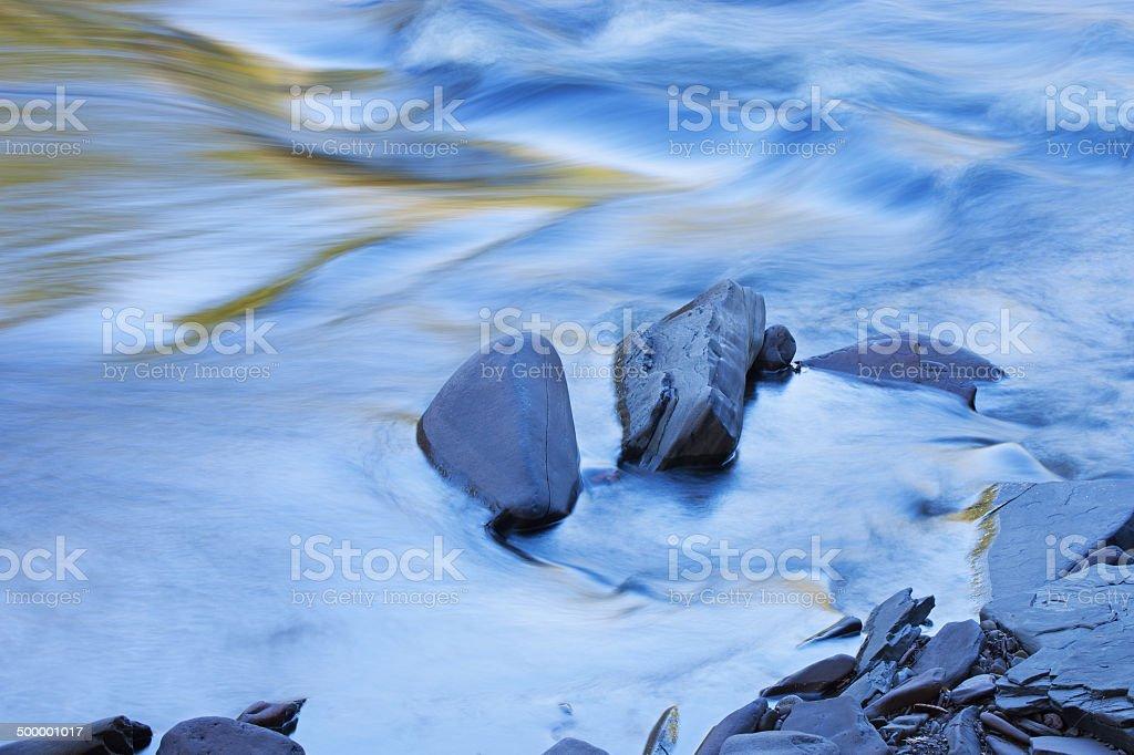 Presque Isle River Rapids stock photo