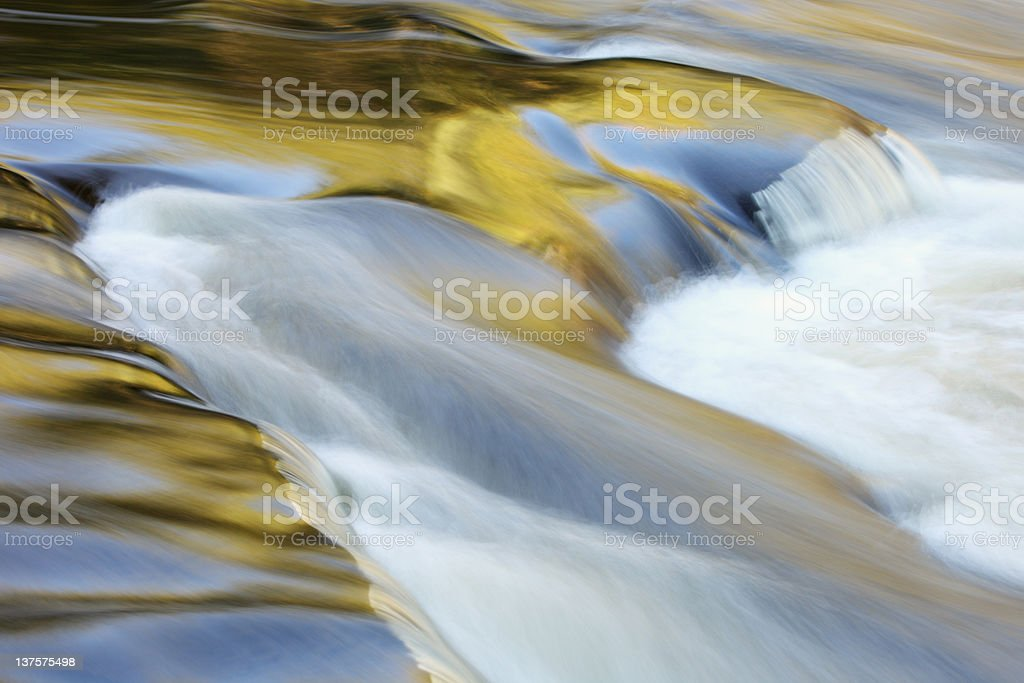 Presque Isle River Reflections stock photo