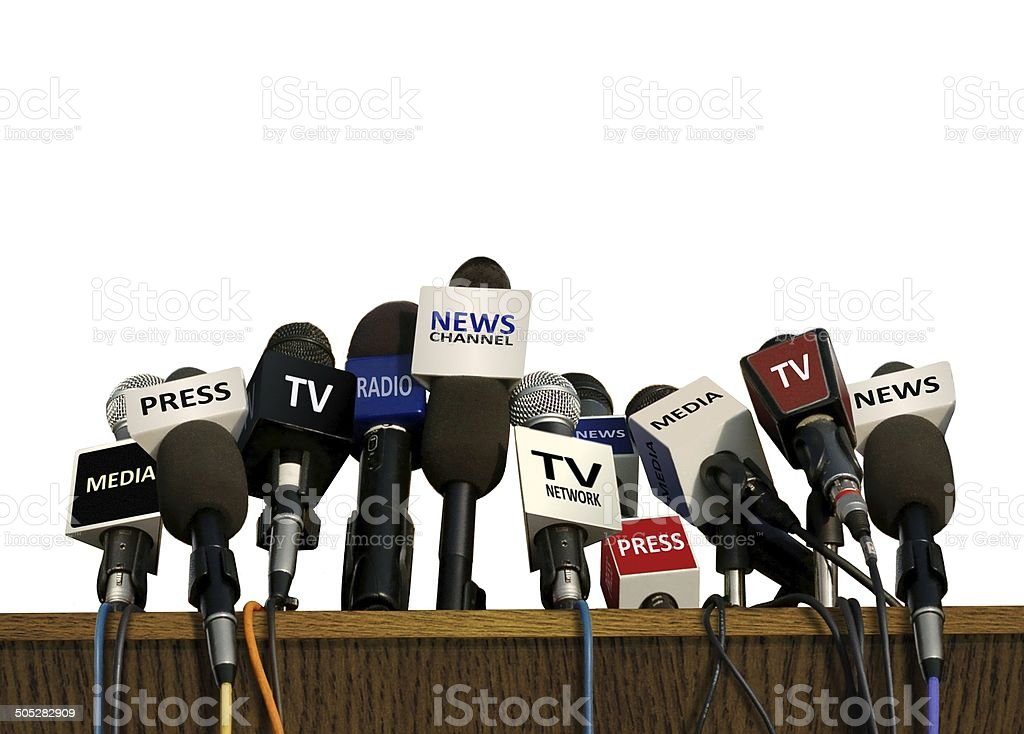 Press and Media Conference stock photo