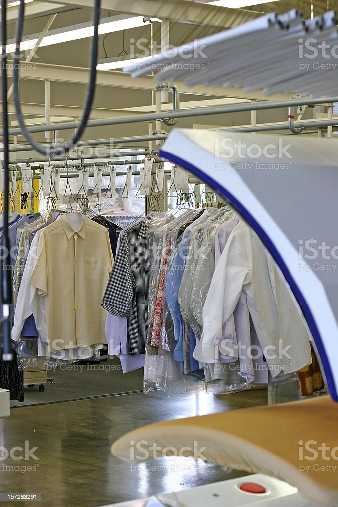 Press at Drycleaners Vertical royalty-free stock photo