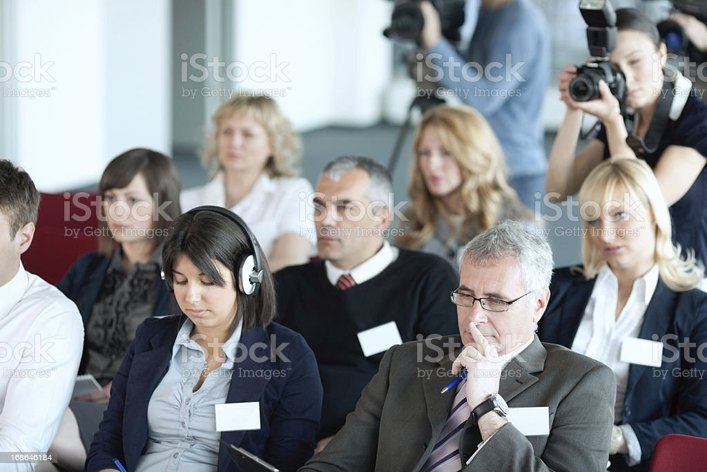 Press conference. royalty-free stock photo
