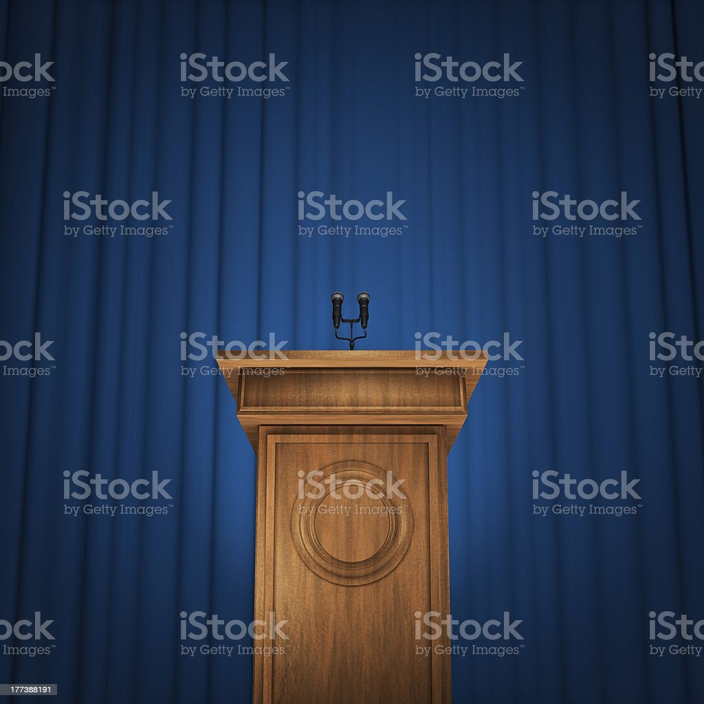 Press conference stock photo
