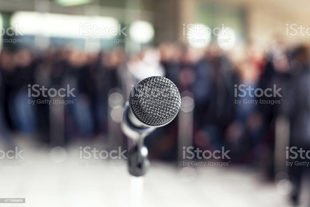 Press conference stock photo