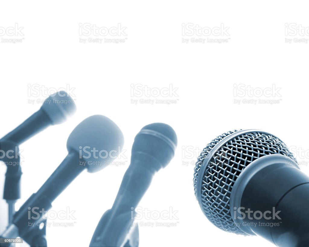 Press Conference (XXL) royalty-free stock photo