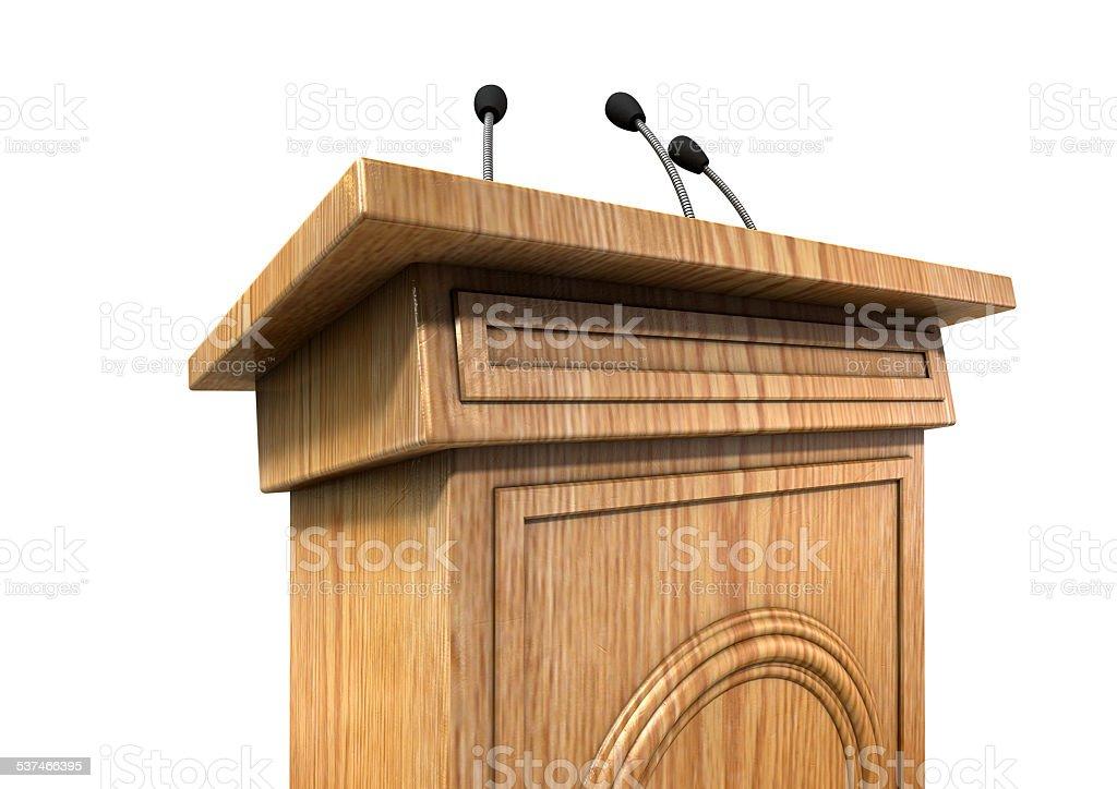 Press Conference Podium stock photo