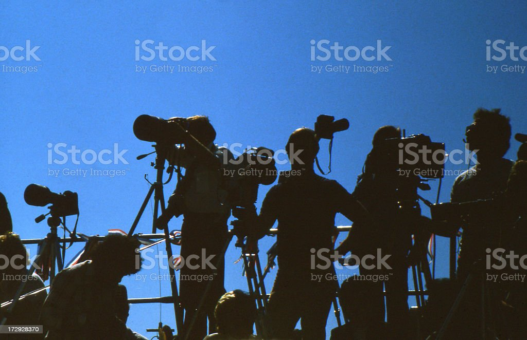 Press Corp stock photo
