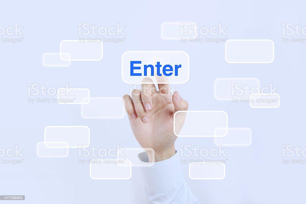 Press enter button stock photo
