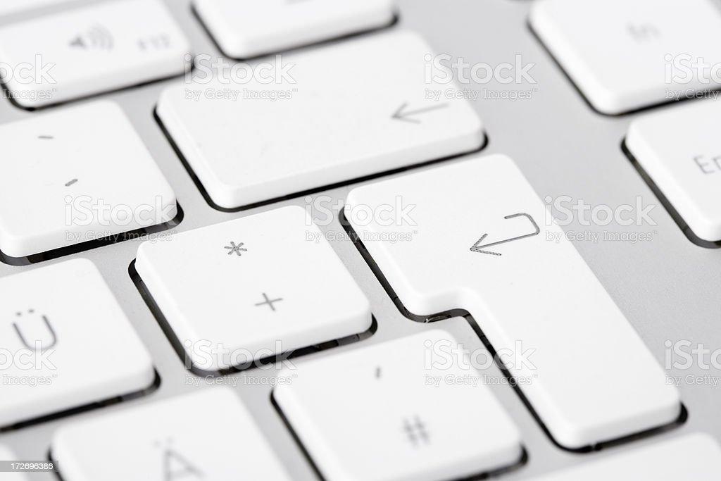 Press Enter Computer Keyboard royalty-free stock photo