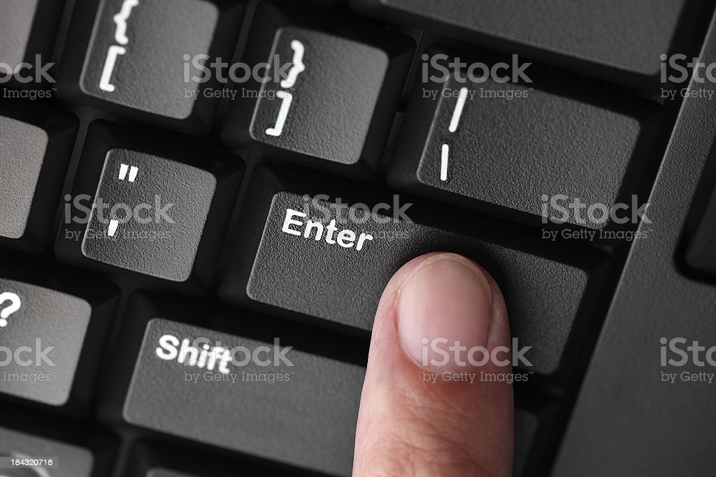 Press Enter key stock photo