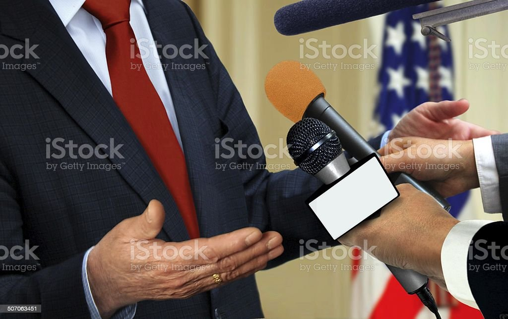 Press Interview stock photo