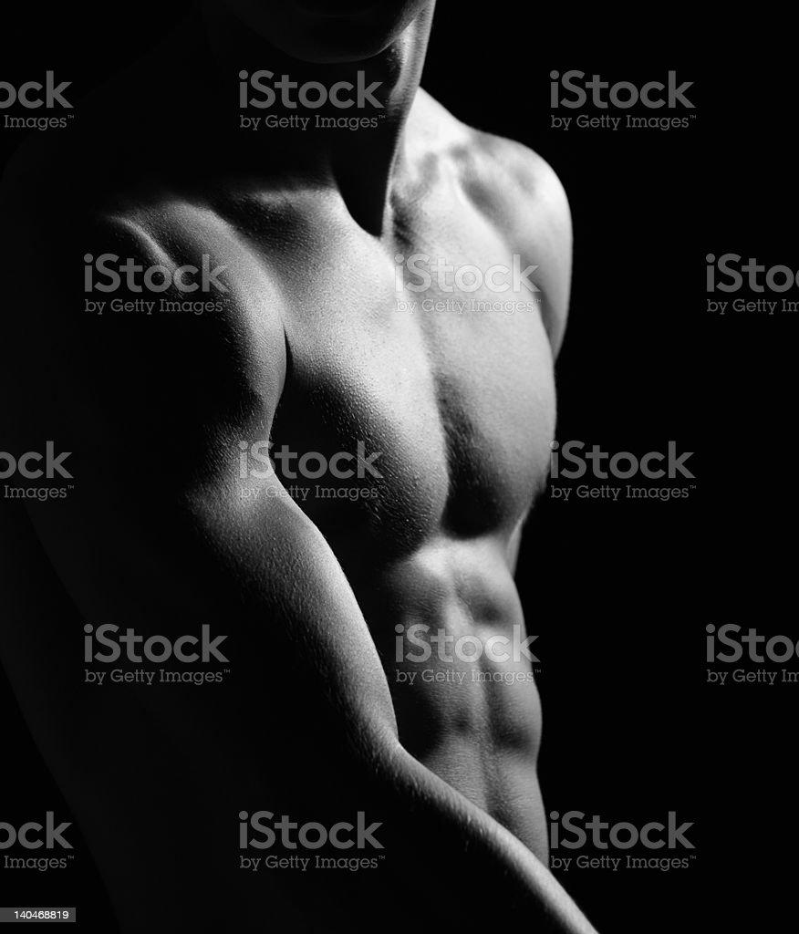 Press of a man royalty-free stock photo