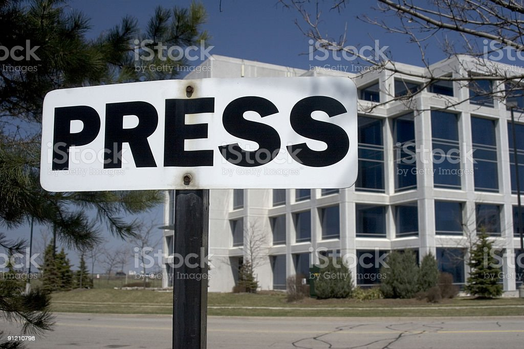 Press Parking stock photo