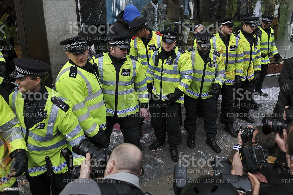 Press Photograph a Police Line in London royalty-free stock photo
