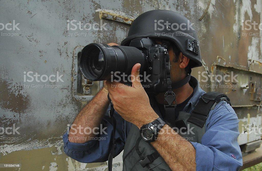Press Photojournalist Photographer royalty-free stock photo