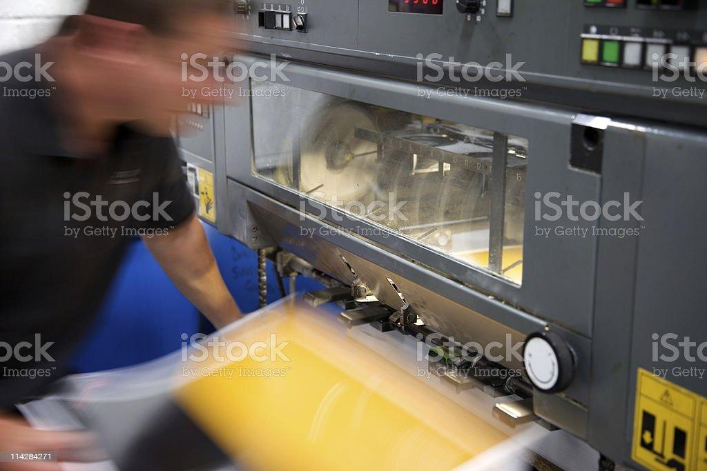 Press... stock photo