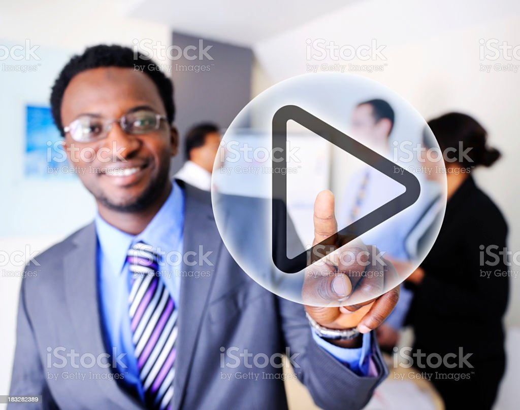 Press Play stock photo