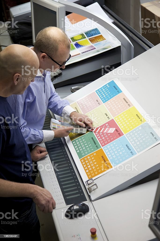 Press Room royalty-free stock photo