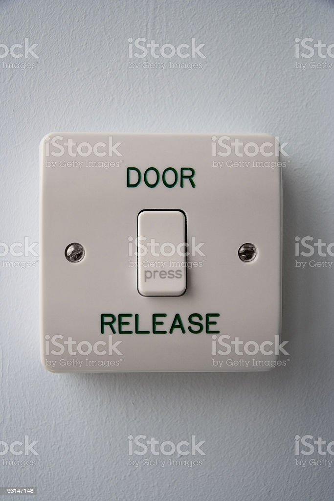Press to open (with path) stock photo