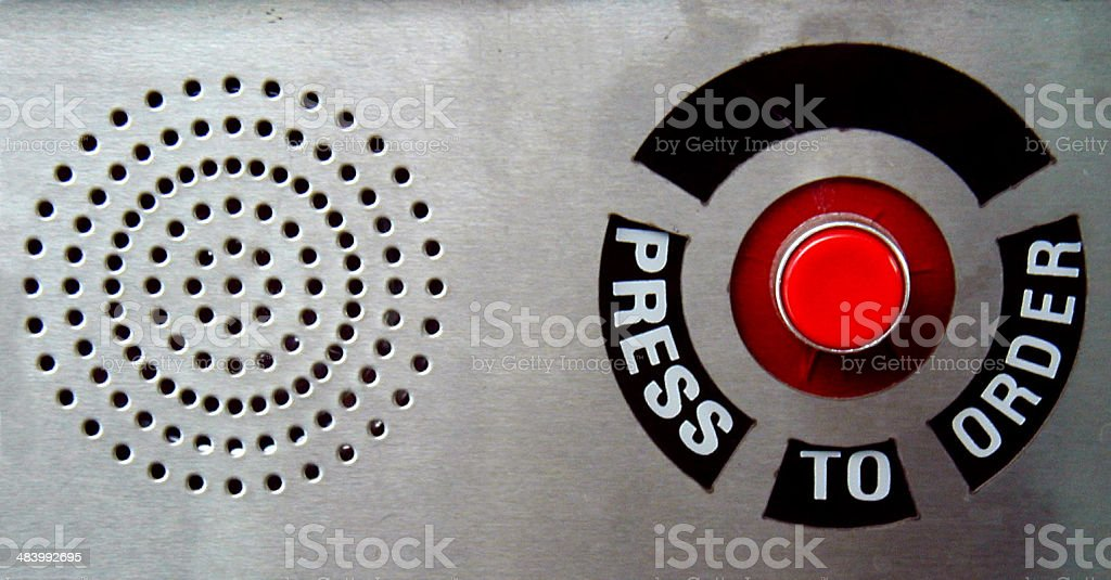 Press to Order royalty-free stock photo