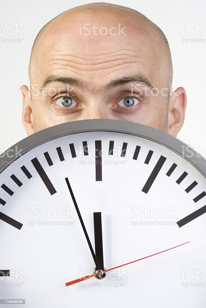 Pressed by time royalty-free stock photo
