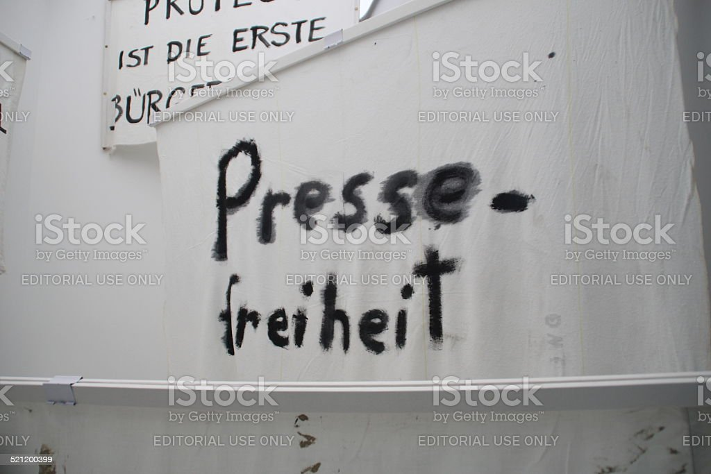 Pressefreiheit / freedom of press stock photo
