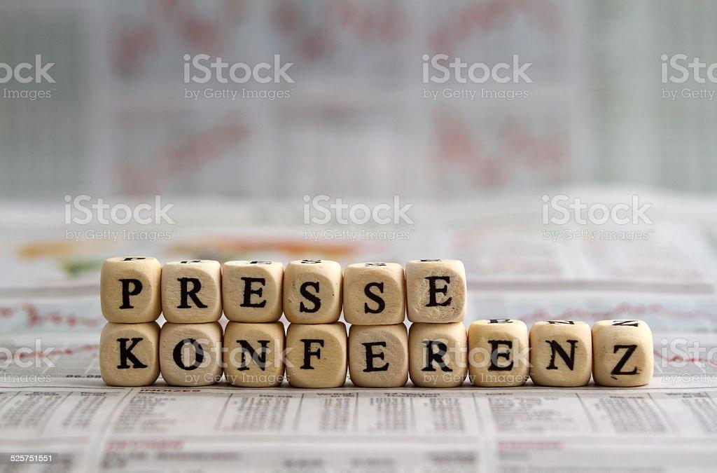 Pressekonferenz stock photo