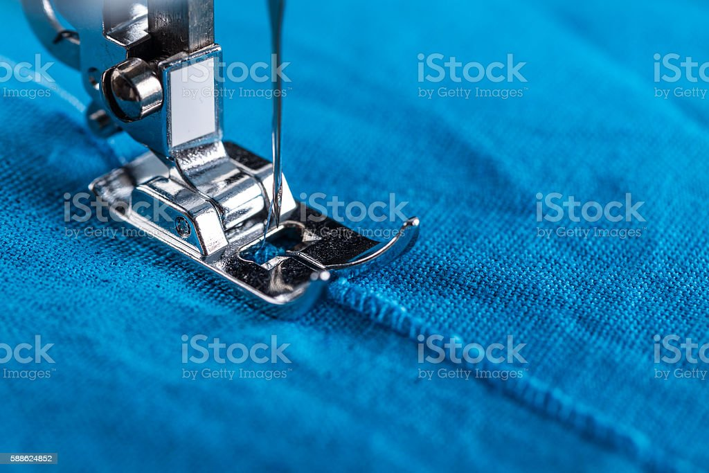 Presser foot and textile stock photo