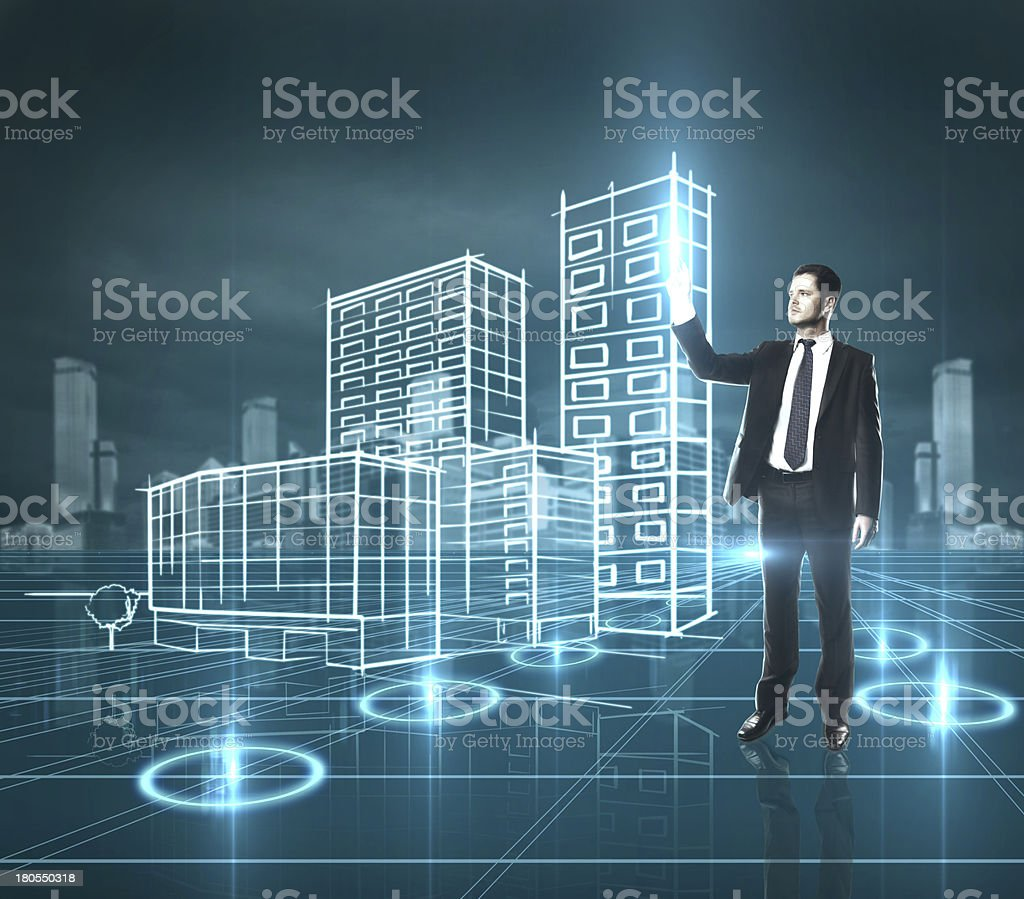 presses skyscraper royalty-free stock photo