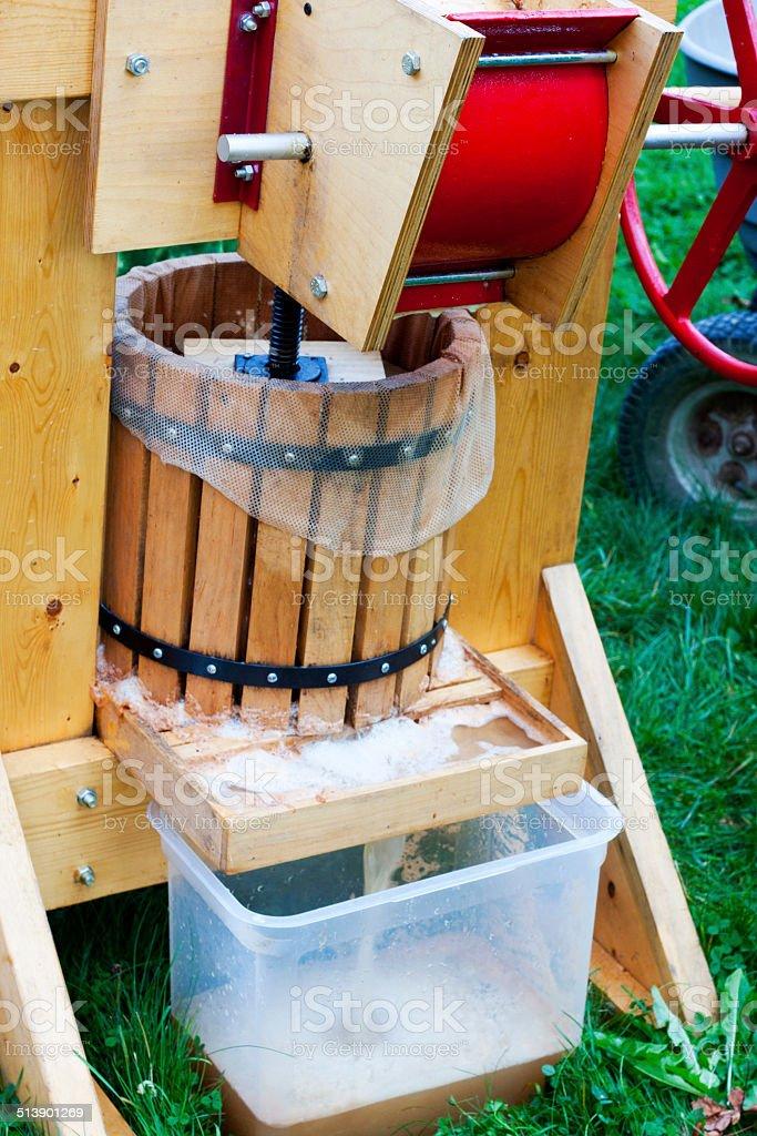 Pressing Apple Cider stock photo