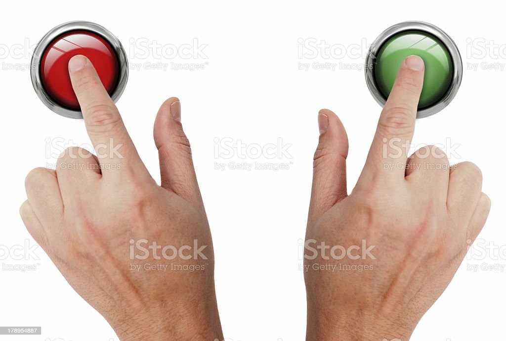 Pressing buttons royalty-free stock photo