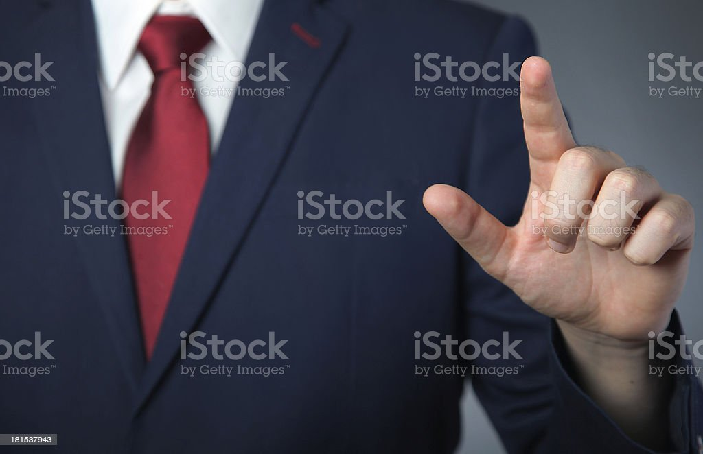 pressing finger royalty-free stock photo