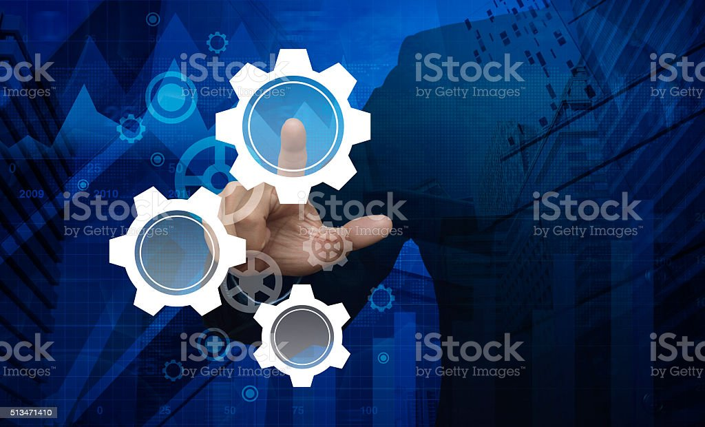 Pressing gear icon, Elements of this image furnished by NASA stock photo