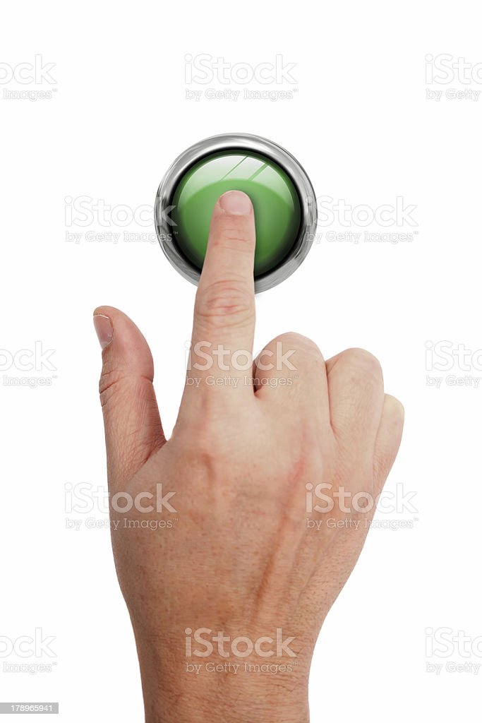 Pressing GO button royalty-free stock photo