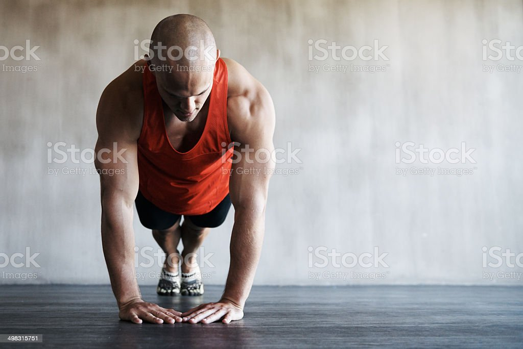 Pressing on and increasing his stamina stock photo