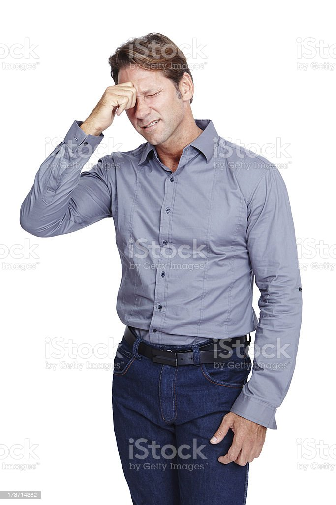Pressure and pain royalty-free stock photo