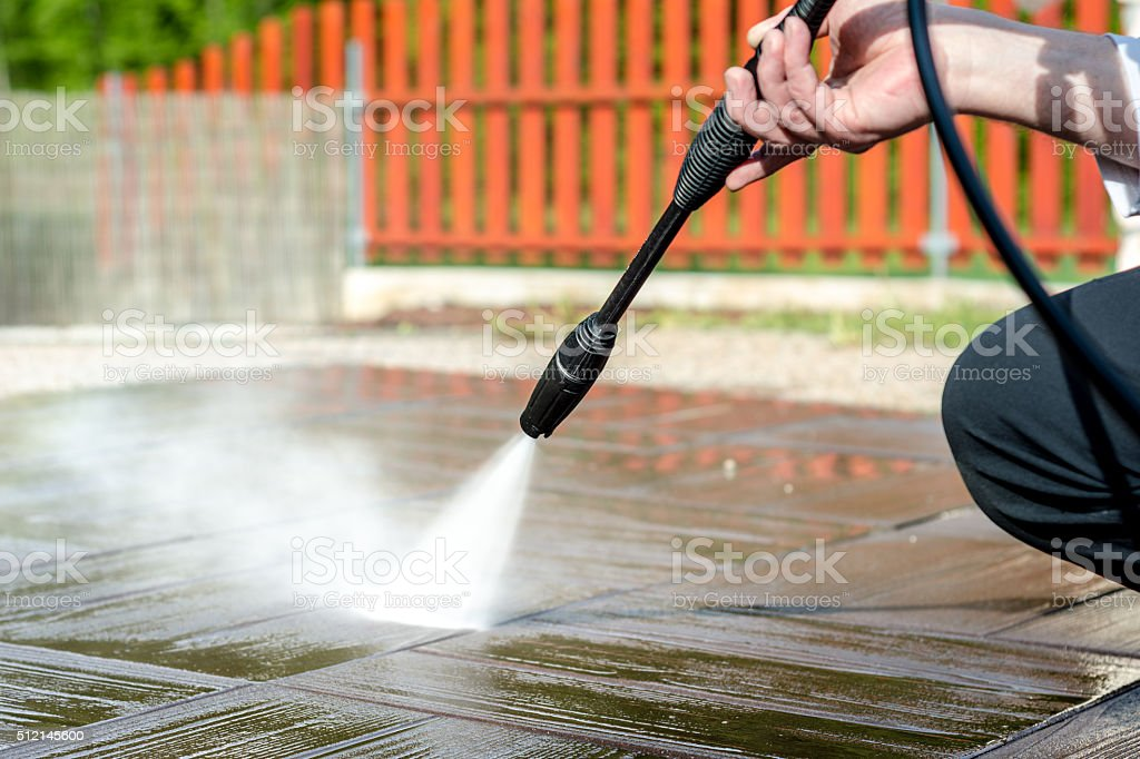 Pressure cleaning stock photo