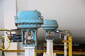 Pressure control valve in oil and gas process and controlled