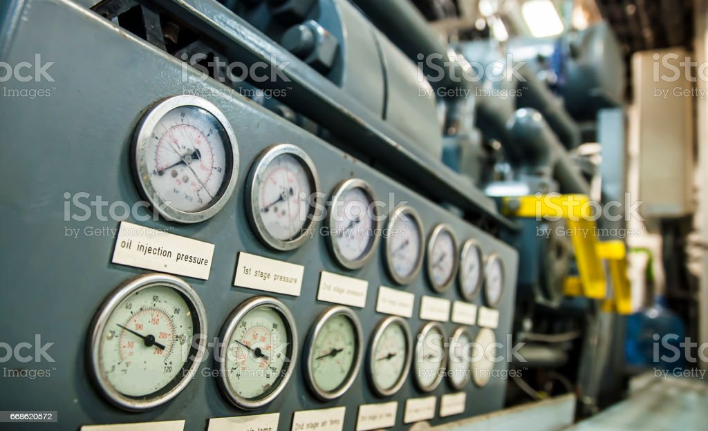Pressure gages - instruments of measurement stock photo