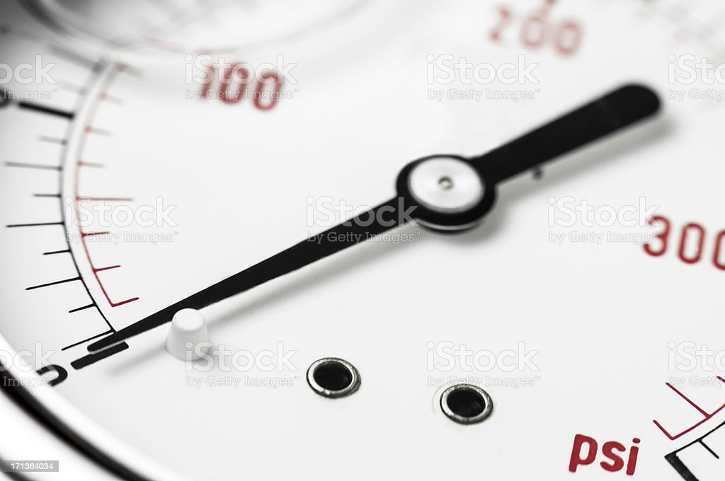 Pressure gauge detail stock photo