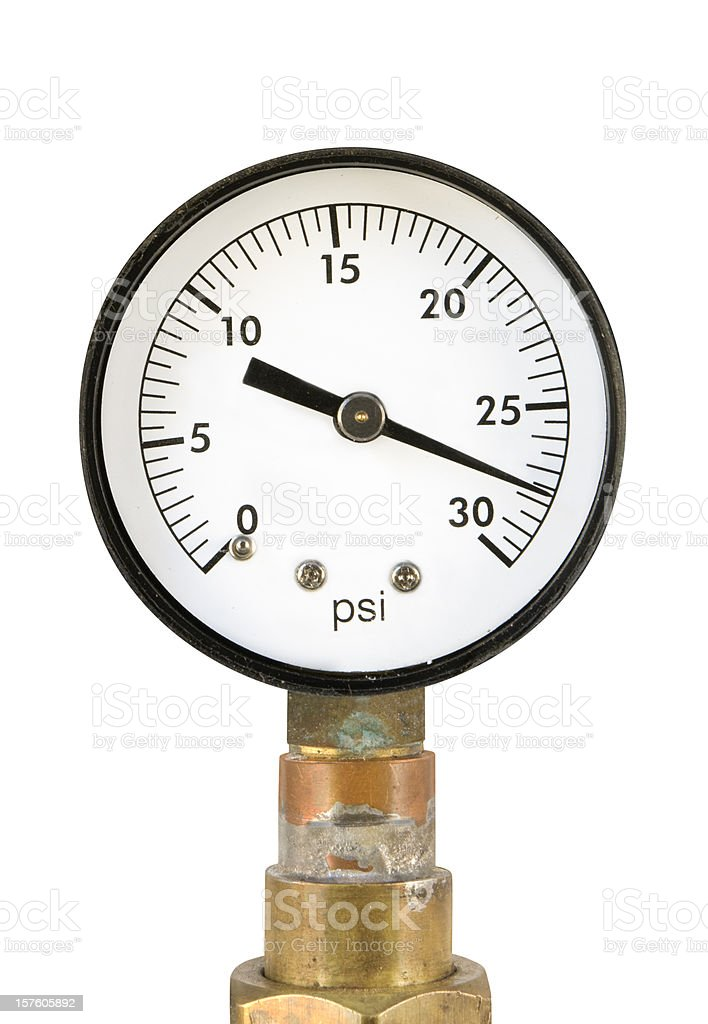 pressure gauge - for low psi stock photo