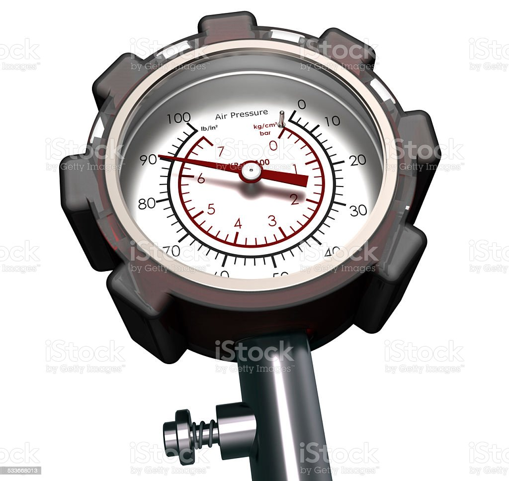 Pressure Gauge isolated On White stock photo