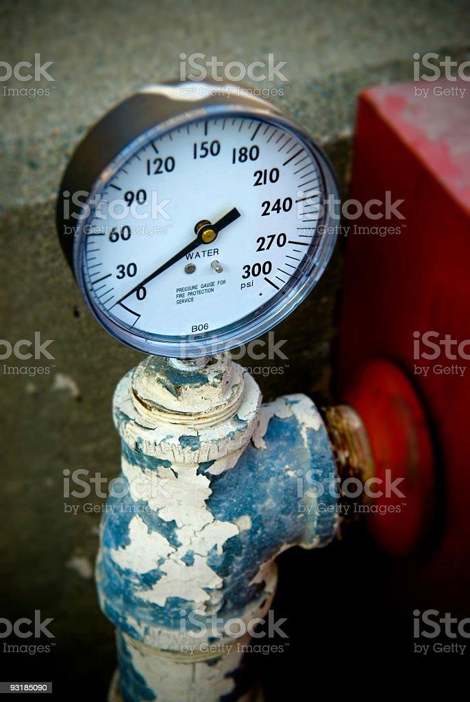 pressure gauge royalty-free stock photo