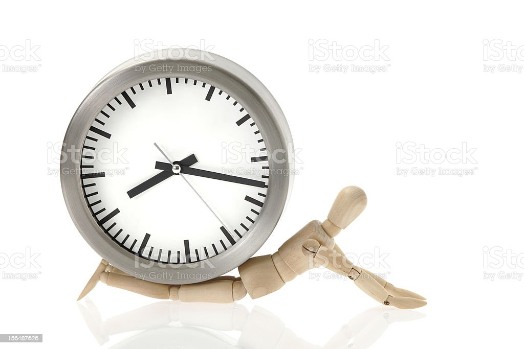 Pressure of time stock photo