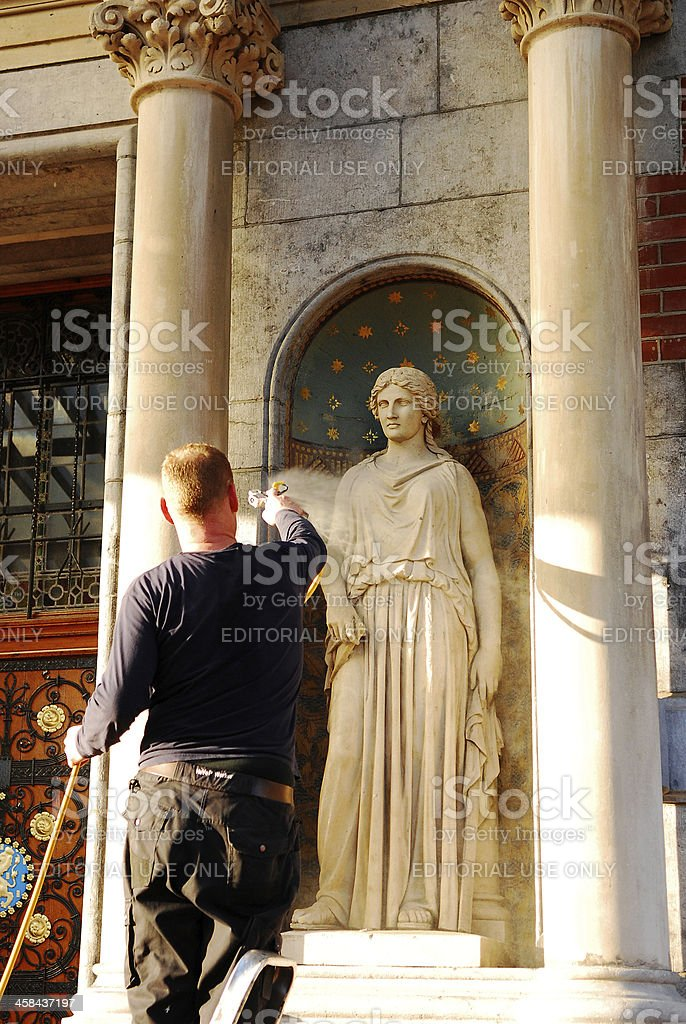 Pressure on the Goddess. royalty-free stock photo