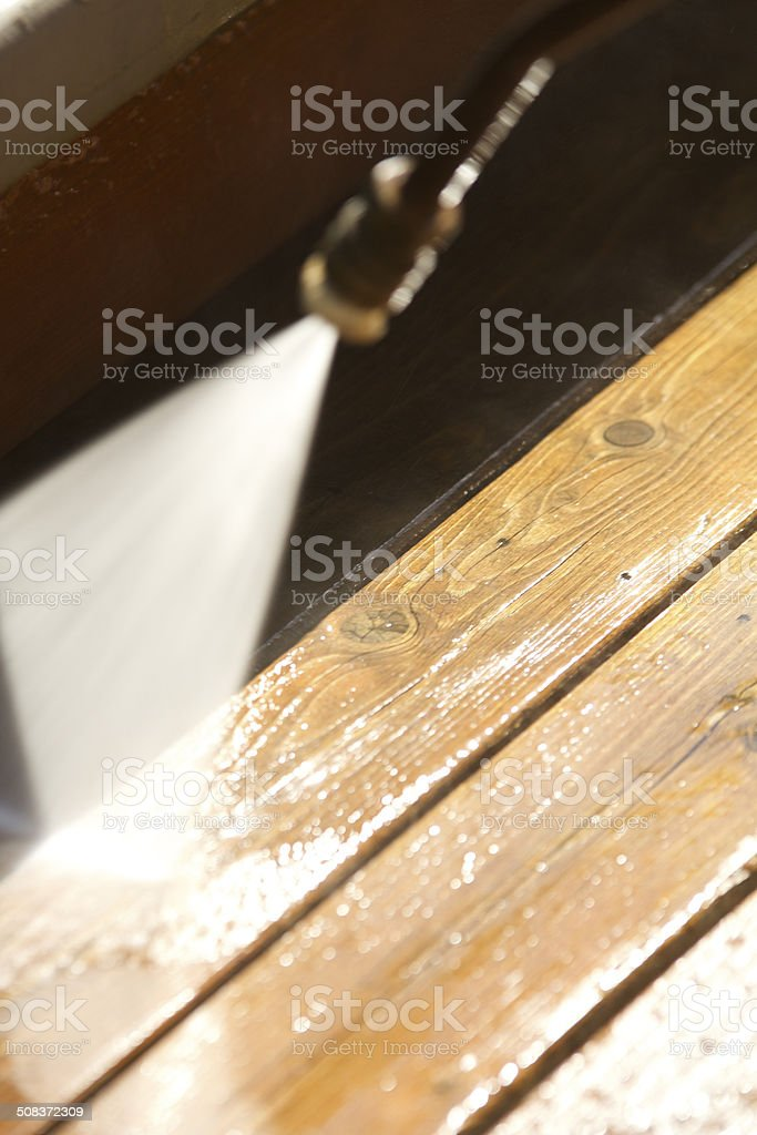 Pressure or Power Washing stock photo
