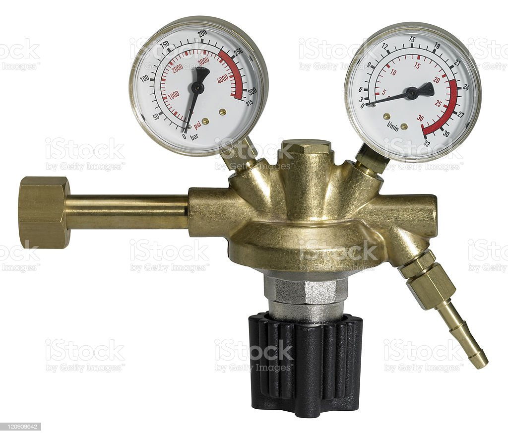 pressure reducer isolated on white stock photo