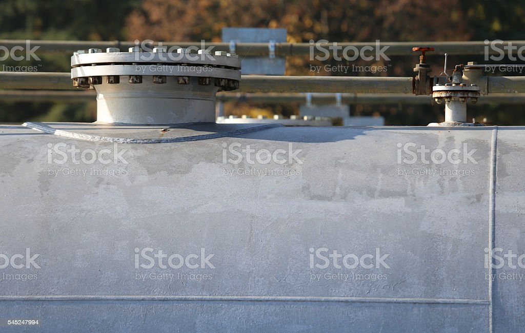 pressure vessel for storage of the natural gas stock photo